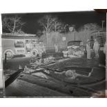 Vintage Retro Original Photography Glass Plate Car Crash Walsall 1960 Measures 10cm x 12cm