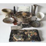 Vintage Retro Parcel Silver Plate Moulds Silk Thread Handbag & More