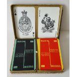 Vintage Retro Collectable Playing Cards 1 x De La Rue 1 x Waddingtons