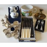 Vintage Retro Parcel of Plated Ware, China & Flatware