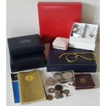 Vintage Retro Assorted Coins, Jewellery Boxes & Costume Jewellery NO RESERVE
