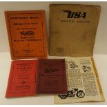 Vintage Retro Motor Bike Manuals for BSA, Velocette, Norton & Matchless