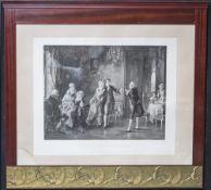 2 gleiche Jugendstil-Künstlerrahmen, um 1910, Mahagoni, unten durchgehend vergoldetes Fries,
