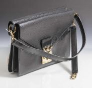 "Louis Vuitton Damenhandtasche, Schultertasche, Modell ""Epi Monceau"", schwarz, innen Nr. A20960 sowie"