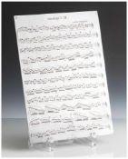 """Druckplatte, """"12. Capriccio"""", wohl um 1900, wohl Mozart, unten bez. """"W. M. 2113 S. M."""". Ca. 28 x"""