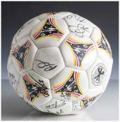 Fussball, Questra DFB - Deutscher Fussballbund, WM 1982 mit Originalunterschriften der deutschen
