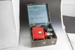 Laterna Magica, Projektionsgerät, auch Skioptikon genannt, 19. Jahrhundert, Bing Nürnberg, Blech,