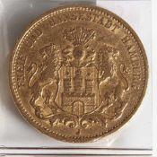 20 Goldmark, 1876 Hamburg J.