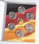 Silber-Gedenkmünzensatz, 10 Euro, 2009, Bundesrepublik Deutschland, PP, 6 Stück, Leichtathletik WM
