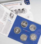Silber-Gedenkmünzenset, 10 Euro, 2007, Bundesrepublik Deutschland, PP, 6 Stück, 50 Jahre