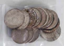 Konvolut Silbermünzen, darunter: 5 x 2DM, 6 x 5DM, 1 x 2DM, 5 DM, BRD Sondermünzen insgesamt 6