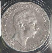 1 Münze, 5 Mark, Wilhelm von Preußen, 1904 A.