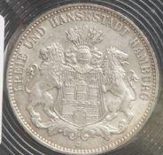 1 Münze, 3 Mark, Hamburg 1914 J.