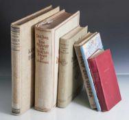 """Konvolut von 6 Bücher, bestehend aus: a) Dr. Bauer, H.W. """"Kolonien im Dritten Reich"""", Gauverlag"""