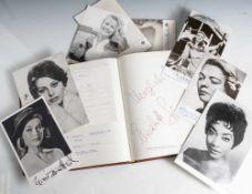 Sammlung von Autogrammen und Autographen von Schauspielern, (Opern-)Sängern und Musikern der 50er