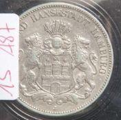 1 Münze, 5 Mark, Hamburg, 1908 J.