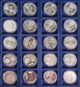 Konvolut von 20 Silbermünzen, 10 Euro, 2009, Bundesrepublik Deutschland, PP, bestehend aus je 4x: a)
