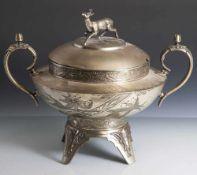 """Bowle, um 1900, auf Unterboden bez. """"Meriden silver plate - Quadruple Plate"""" sowie Nr. 1408,"""