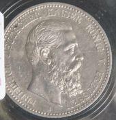 1 Münze, 5 Mark, Friedrich von Preußen, 1888 A.
