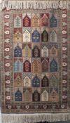 Teppich aus feiner Seide, Türkei. Ca. 165 x 110 cm.