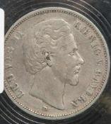 1 Münze, 5 Mark, Bayern Ludwig II., 1875 D.