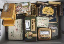 Konvolut von verschiedenen Blechdeckeldosen insgesamt 18 Stück. Walteau Cigarettes Laurens