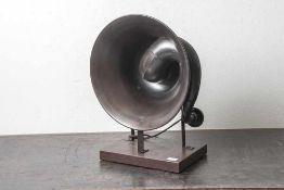 Lautsprecher, Horn, wohl 20/30er Jahre, Metallausführung. DM 33,5 cm.