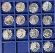 14 Silbermünzen, 10 Euro, 2004, BRD, PP, Columbus - Europas Labor für die Internationale Raumstation