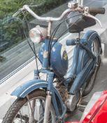 Moped Victoria 1956 mit Papieren und Bedienungsanleitung. Farbe blau unrestaurierter
