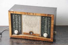 Radio, Lumophon, Modell WD 660, Bruckner & Spark in Nürnberg. Holzgehäuse 1949/50. Ca. 51 x 34 x