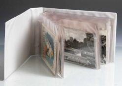 Konvolut alter Postkarten, insgesamt 69 Stück