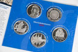 6 Silber-Gedenkmünzen, 10 Euro, 2006, Bundesrepublik Deutschland, PP, darunter 250. Geburtstag