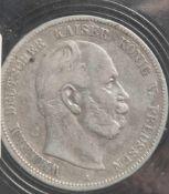 1 Münze, 5 Mark, Preußen, Wilhelm I., 1876 A.