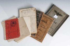 Posten Militaria, bestehend aus: a) Wehrpass, II. WK, Heer-Landwehr, Frankfurt 1938. b) Militärpass,