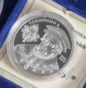 Silbermünze, 20 Euro, Österreich, 2002, PP, Ferdinand I. 1503-1564, Münze in Kapsel.