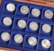 Konvolut von 22 Silbermünzen, 10 DM, BRD, Olympische Spiele 1972, teilw. Stempelglanz, Deutsche