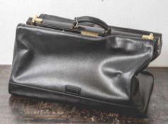 """Arztkoffer/ Reisetasche """"Ferre"""", Gianfranco Ferre, Vintage, schweres Leder, schwarz, Art. No."""