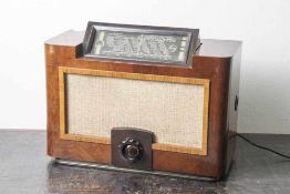 Radio Philips, Valvo Aachen Super D52 AU, ausklappbares Display, seltenes Modell mit Monohenbel.