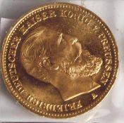 20 Goldmark, 1888 Preussen A.
