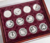 Konvolut von 23 Gedenkmünzen, Deutschland, 999 Silber, PP, Münzen jeweils in Kapseln und in