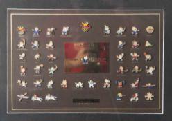 Kollektion Pins Barcelona 92 Amigos para siempre, Darstellung der Sportarten mit dem offiziellen