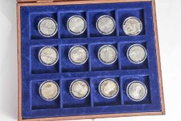 Konvolut von 12 Silbermünzen, 5 DM, BRD, Sonderprägung, bestehend aus: a) 3x Carl Friedrich Gauss,