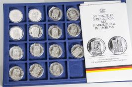 15 Silbermünzen, 10 Euro, 2005, BRD, PP, 100. Jahrestag Friedensnobelpreis Bertha von Suttner,