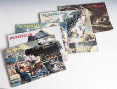 6 Märklin Kataloge, Gebr. Märklin u. Cie. GmbH, Göppingen/Württemberg, je mit zahlreichen