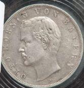 1 Münze, 3 Mark, Otto von Bayern, 1909 D.
