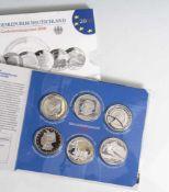 Silber-Gedenkmünzenset, 10 Euro, 2010, Bundesrepublik Deutschland, PP, 6 Stück, 200. Geburtstag