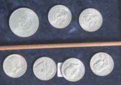 Konvolut Münzen USA, darunter: 4 x 172 Dollar Liberty, 3 x 74 und 1 x 76 1 Dollar 1971, 2 x