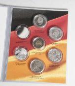 Gedenkmünzensatz, 1x Gold-Gedenkprägung 2 Euro, 4x Silber-Gedenkmünzen 10 Euro, 2010, Bundesrepublik
