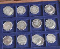 Konvolut von 22 Silbermünzen, 10 DM, BRD, Münzen jew. in Kapseln, bestehend aus: a) 2x 1992 D-St.,