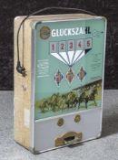 Wandspielautomat, wohl 1950/60er Jahre, Pferderennen - Glückszahl, Herst. Th. Bergmann & Co.